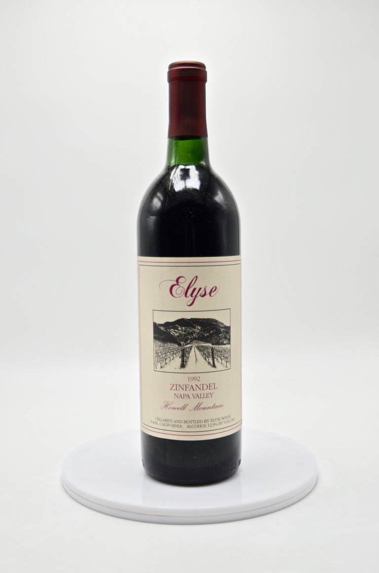 1992 Elyse Winery Zinfandel, Howell Mountain
