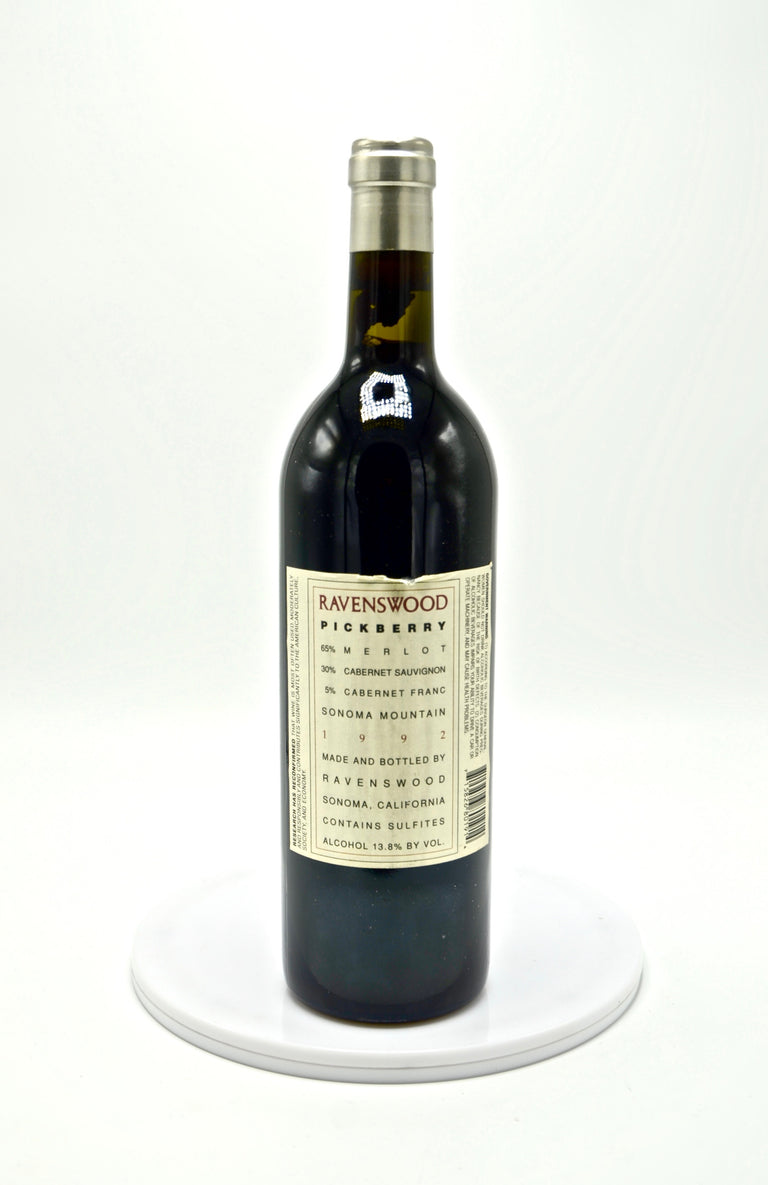 1992 Ravenswood Pickberry Vineyards, Sonoma