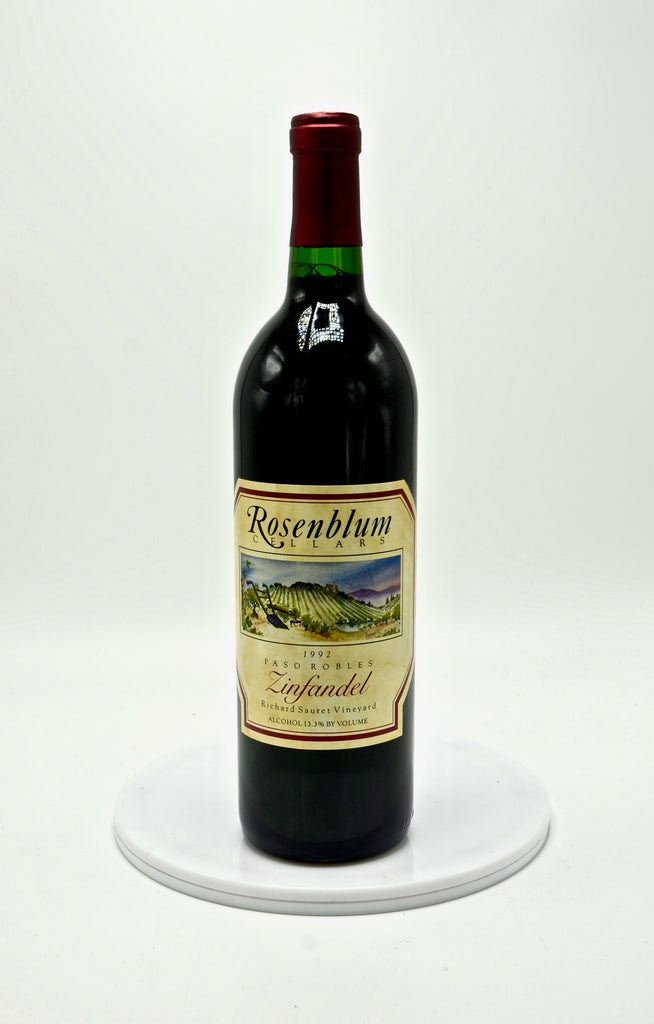 1992 Rosenblum Cellars Zinfandel, Richard Sauret Vineyard, Paso Robles