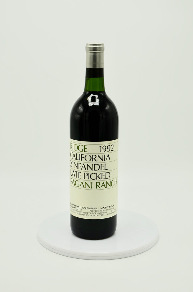 1992 Ridge Zinfandel Pagani Ranch Late Picked