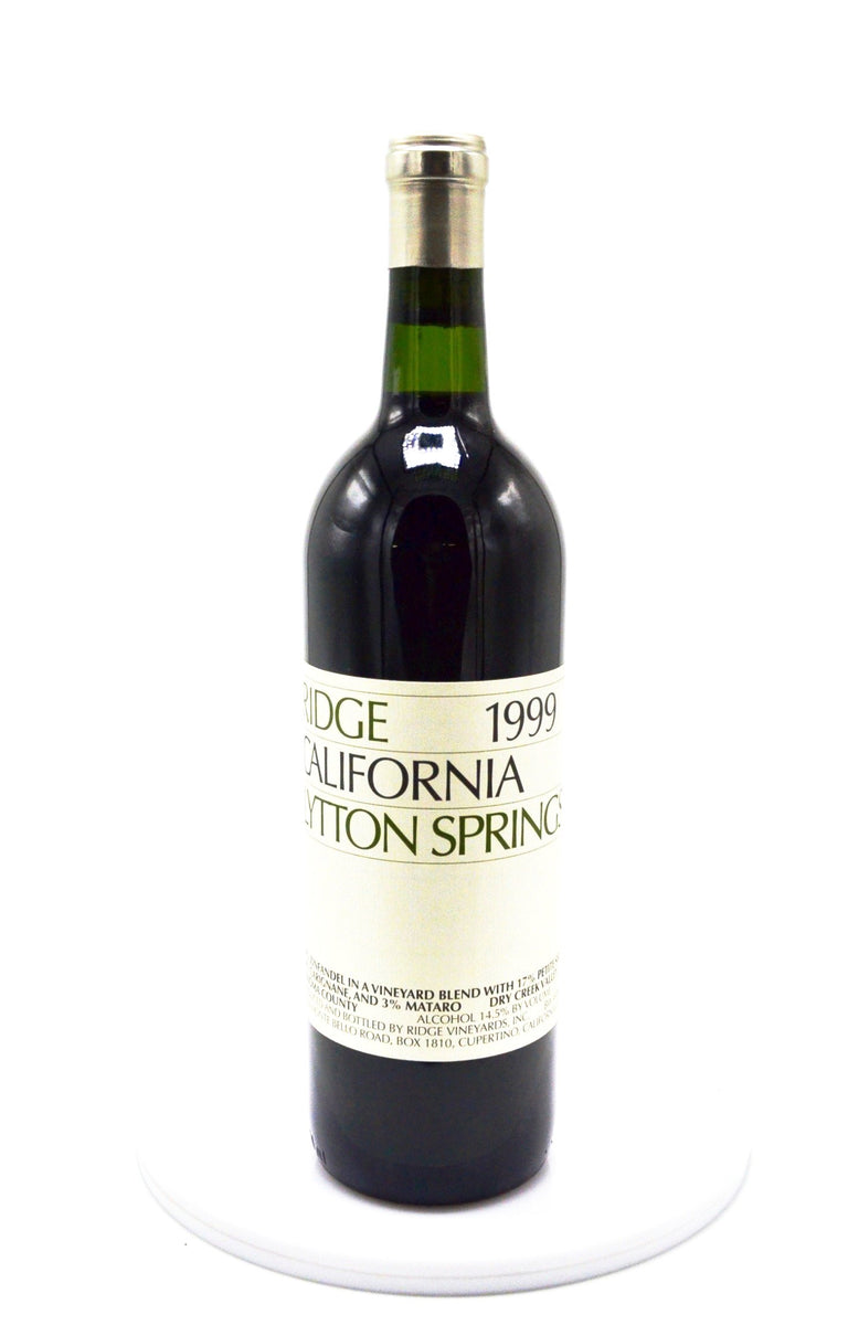 1999 Ridge Vineyards, Lytton Springs, Dry Creek Valley