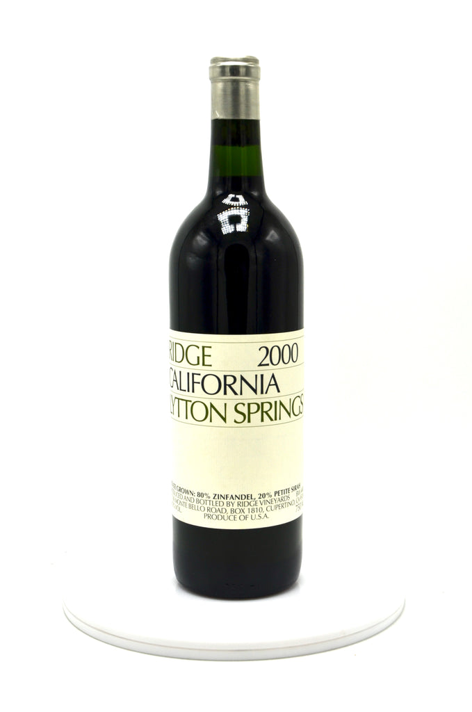 2000 Ridge Zinfandel, Lytton Springs, Sonoma County