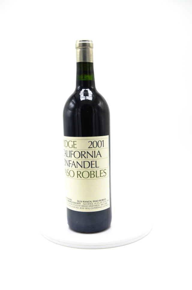 2001 Ridge Vineyards Zinfandel, Paso Robles