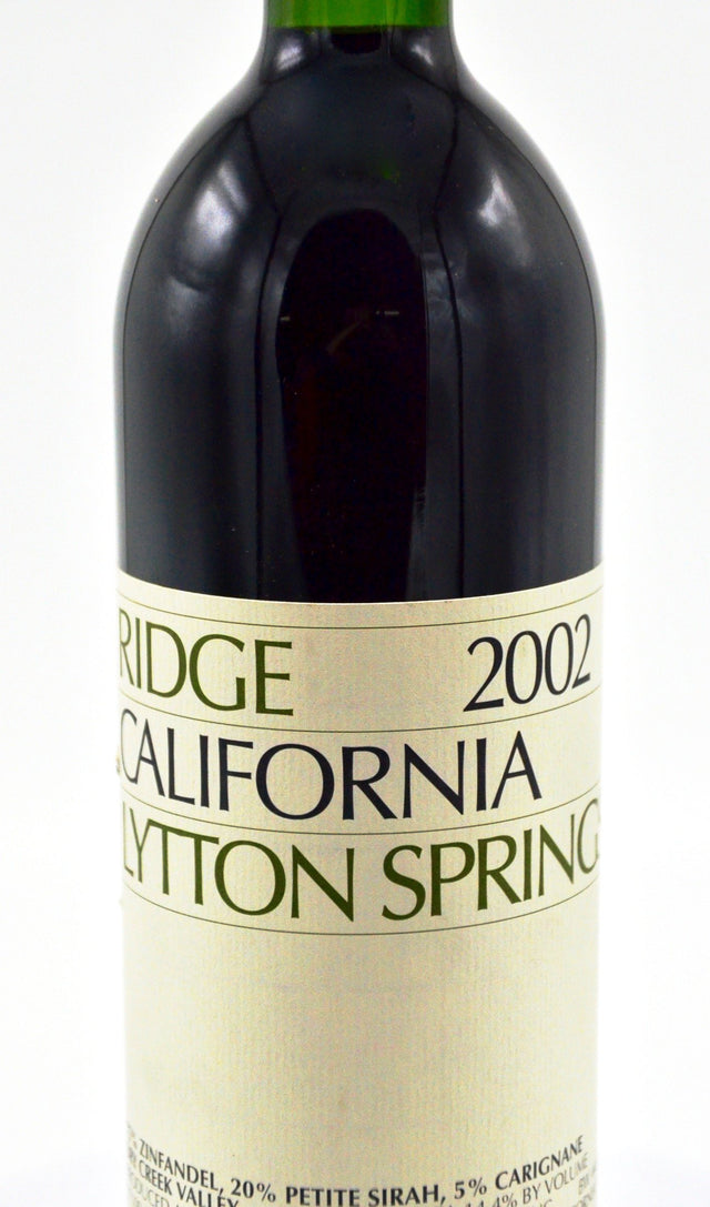 2002 Ridge Vineyards, Lytton Springs, Dry Creek Valley