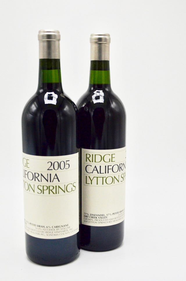 2005 Ridge Vineyards, Lytton Springs, Dry Creek Valley
