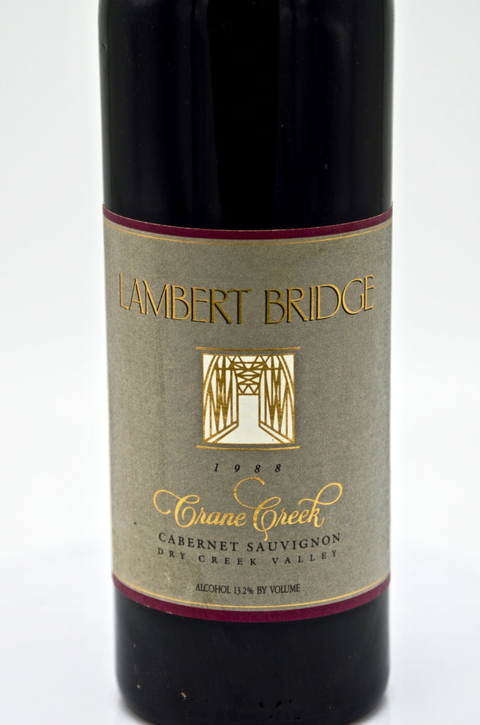 1988 Lambert Bridge Crane Creek Cuvee Cabernet Sauvignon, Dry Creek Valley, Sonoma