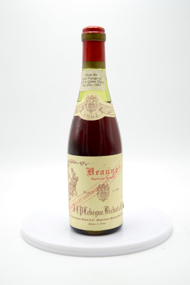 1962 Domaine Bichot Beaune Lebe, Queen Mary Last Voyage (half-bottle)