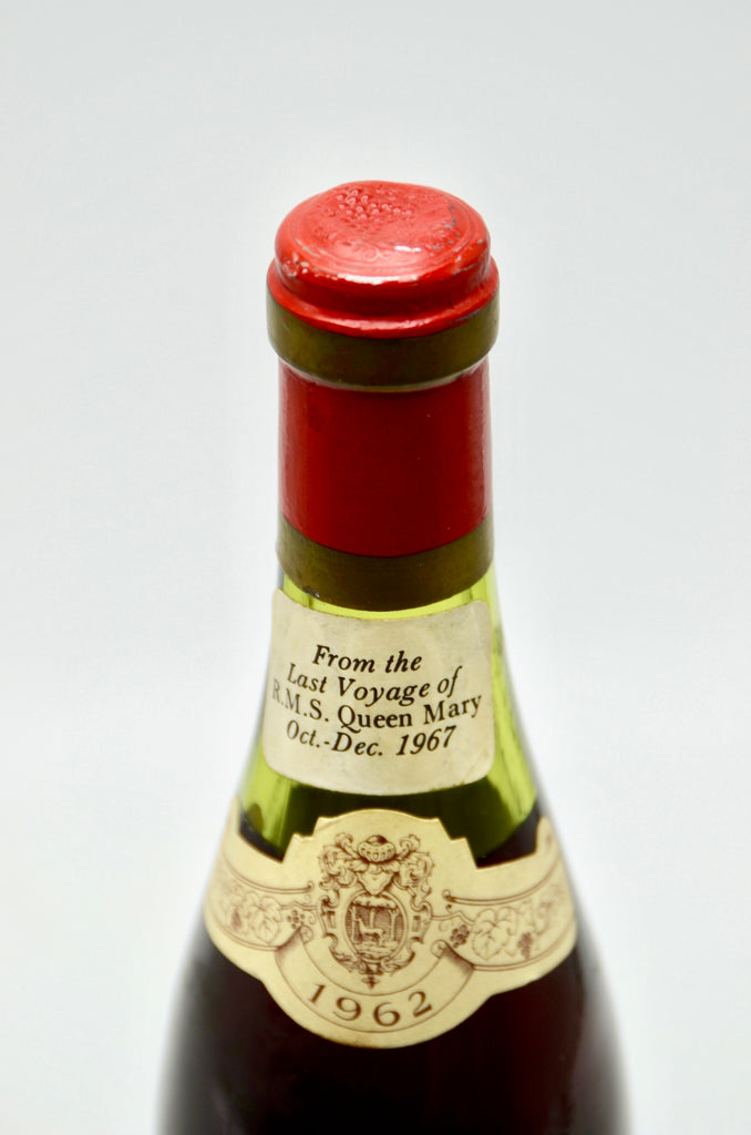 1962 Domaine Bichot Beaune Lepegue, Queen Mary Last Voyage (half-bottle)