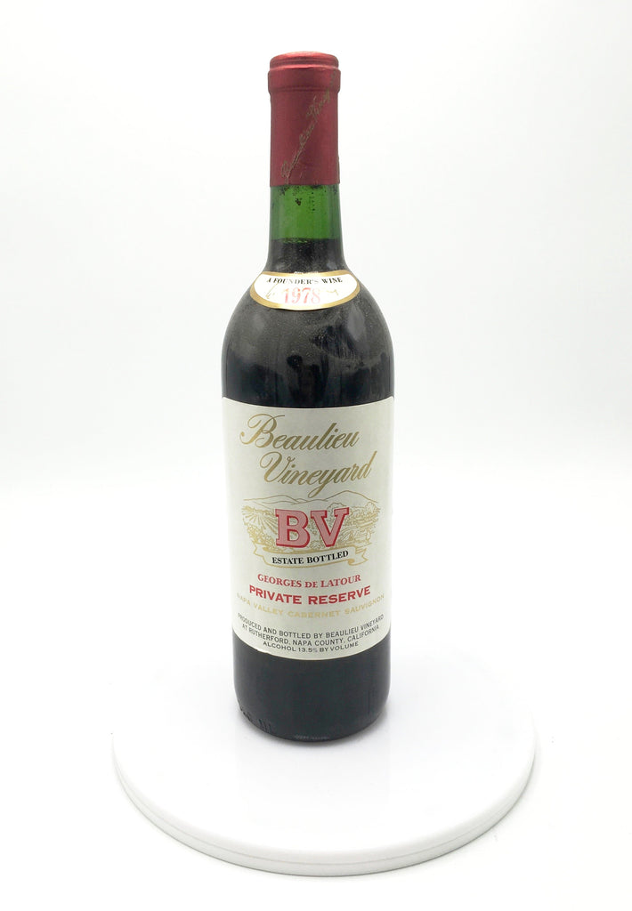 1978 Beaulieu Vineyard Georges de Latour Private Reserve, Napa Valley