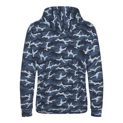 DiY Gang Skull & CrossMics Blue Camo Hoody Back - Shao Dow