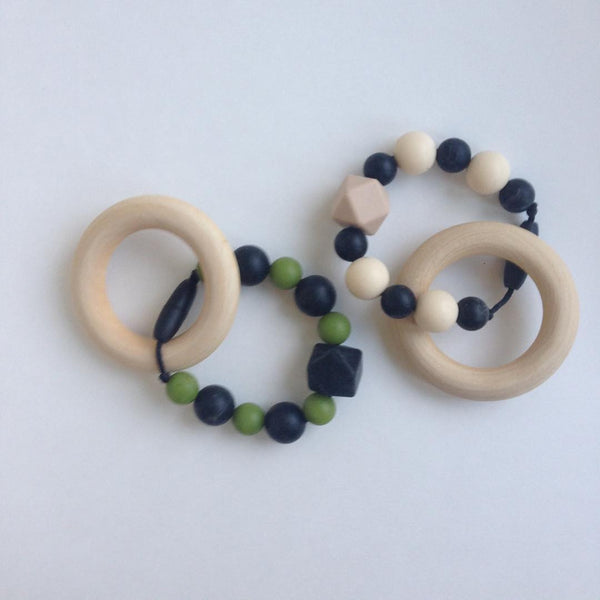 Silicone & Maple Teething Rings