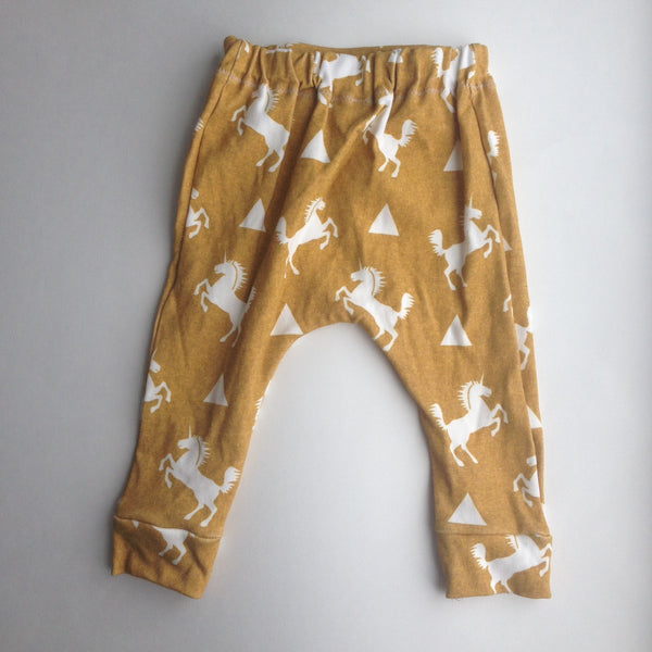 Golden Unicorn Harem Pants