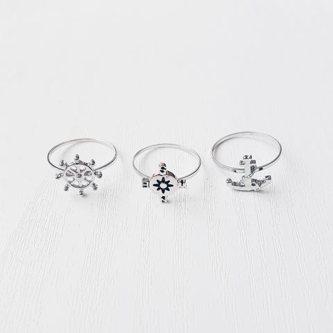 Nautical Theme Ring Set