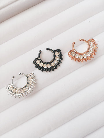Rhinestone Septum Rings+