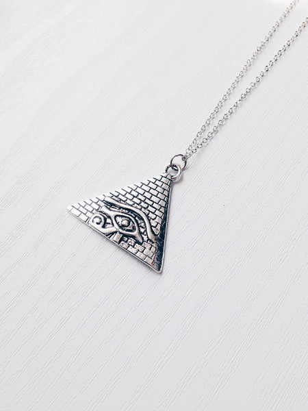 Eye of Ra Pyramid Necklace