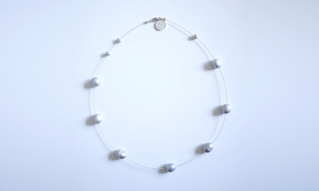 Himmelblau Sky blue Natural Pearl Necklace