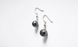 Chocolate Oval Pearl Earrings – a simplistic piece at workplace