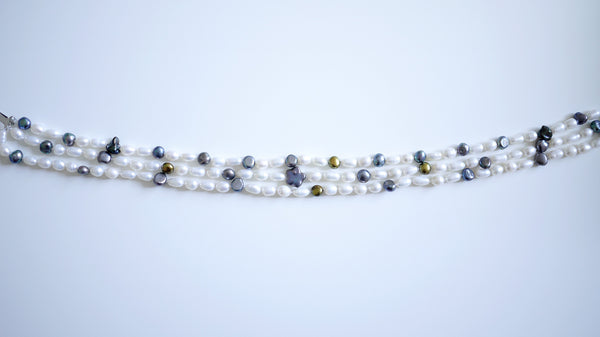Assorted Rice Pearls Choker