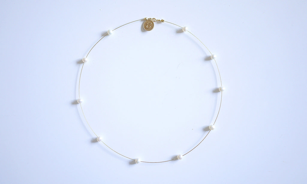18K Golden Equator Pearl Necklace