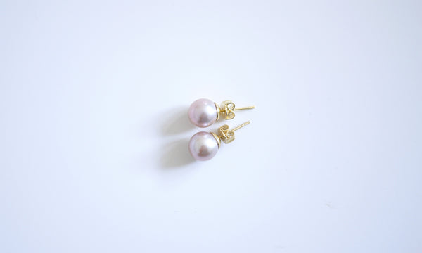 Perfectly-round Pink Freshwater Pearls