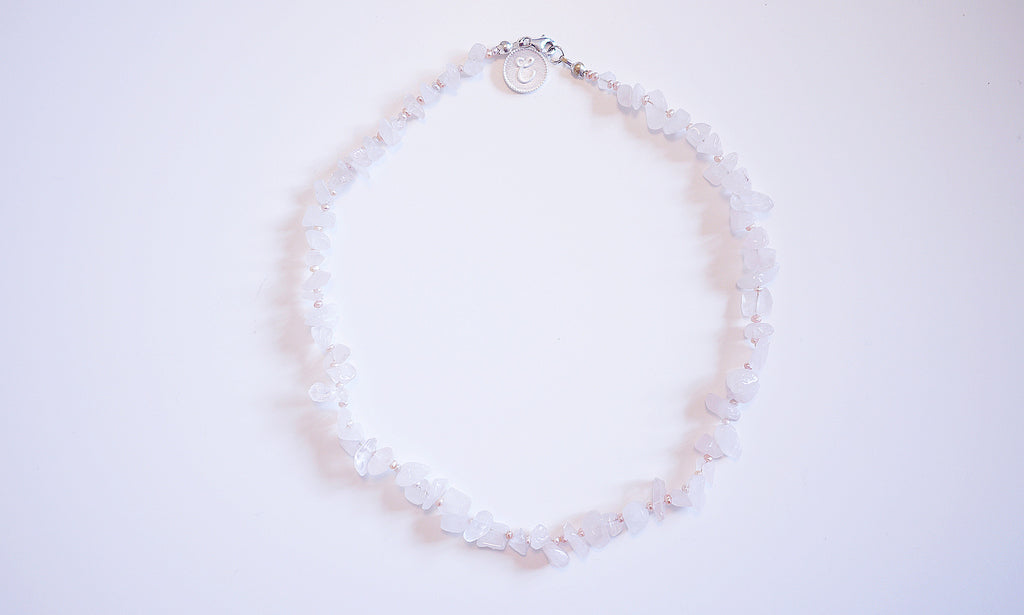 Pink Crystal Pearl Necklace – A peaceful mindset
