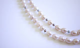Pink Rice Pearls Double-row Necklace - being elegant