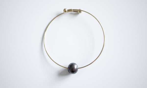 Chocolate Pearl Single Bracelet