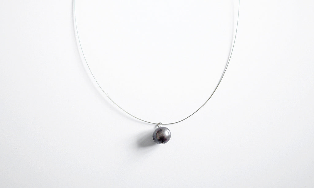 Chocolate Pearl Pendant Necklace – a Chic piece of urban jewellery