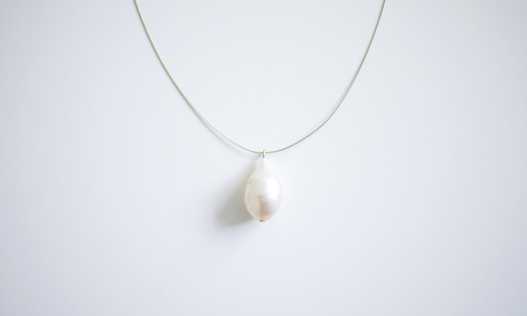 Water-drop Pearl Pendant Necklace