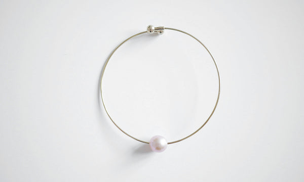 Pink Single Pearl Bracelet