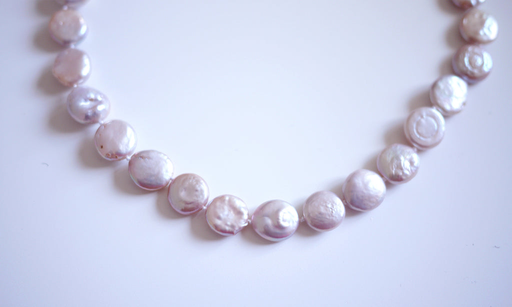 Pink Coin Pearl Necklace - Being Different