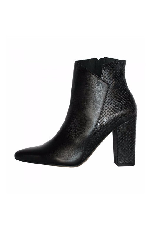 Passion Snakeskin Bootie
