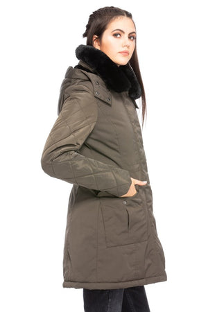 Bend and Snap Hooded Coat