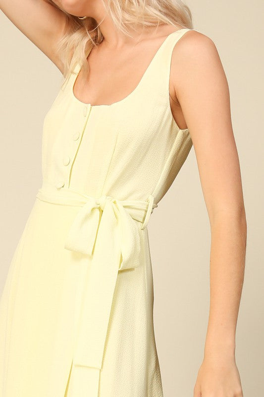 Ray Lemon Midi Dress