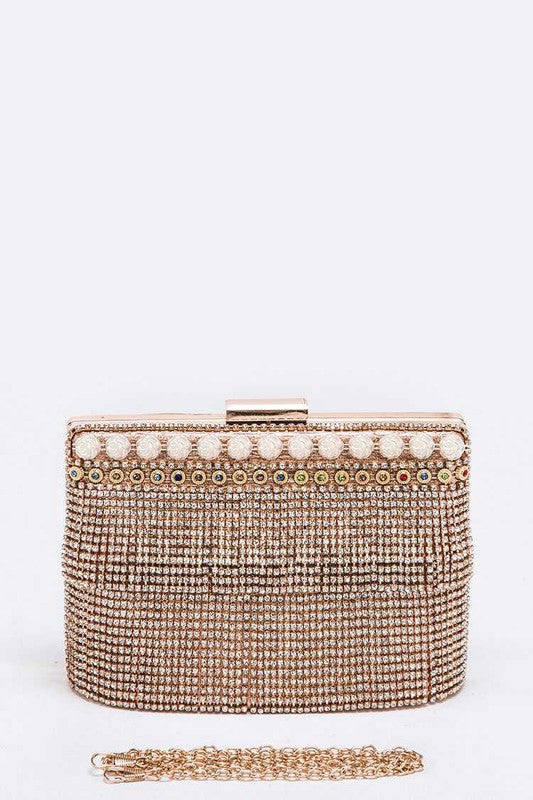 Rhinestone Convertible Iconic Box Clutch