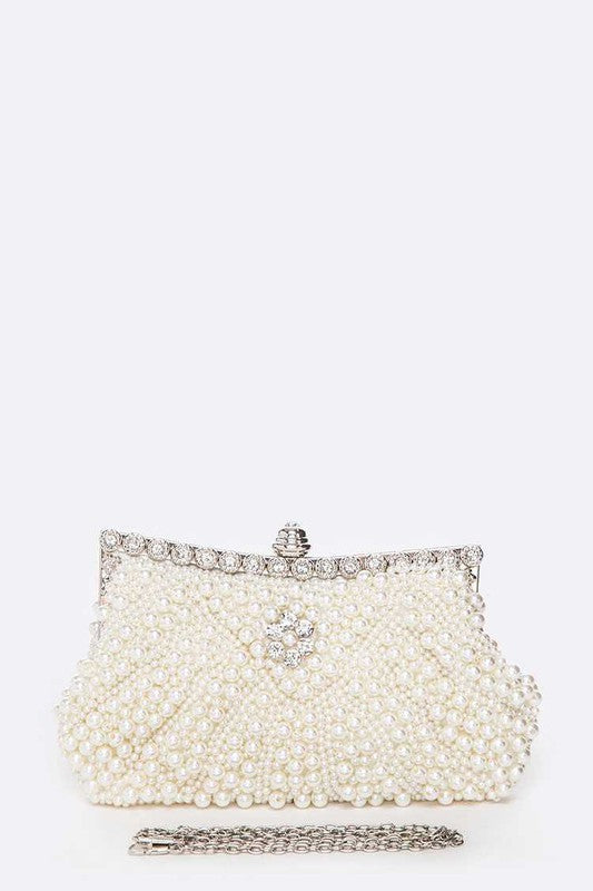 Pearl Studs Soft Convertible Clutch
