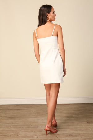 Aliso White Mini Dress