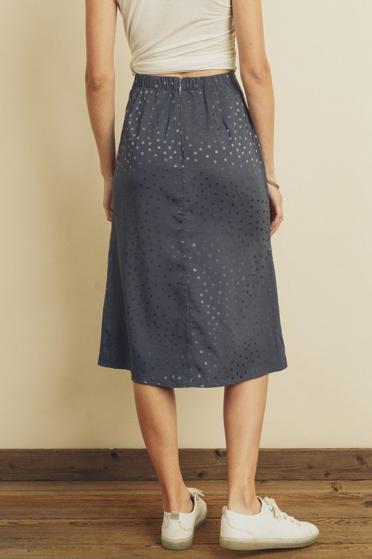 Muted Navy Dot Skirt