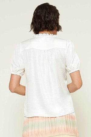 White Sweetheart White Blouse