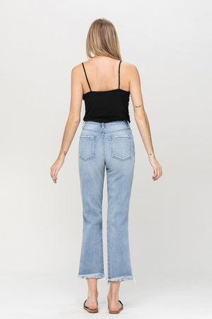 Deconstructed Rigid High Rise Denim