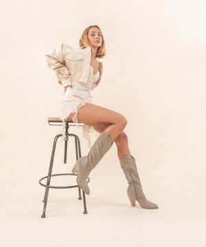 Western Knee High Boot