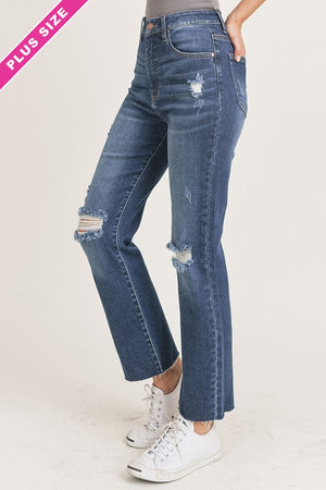 Jeanie High Waisted Straight Denim- VOLUME