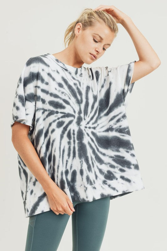 Starburst Tie-Dye Oversized Top