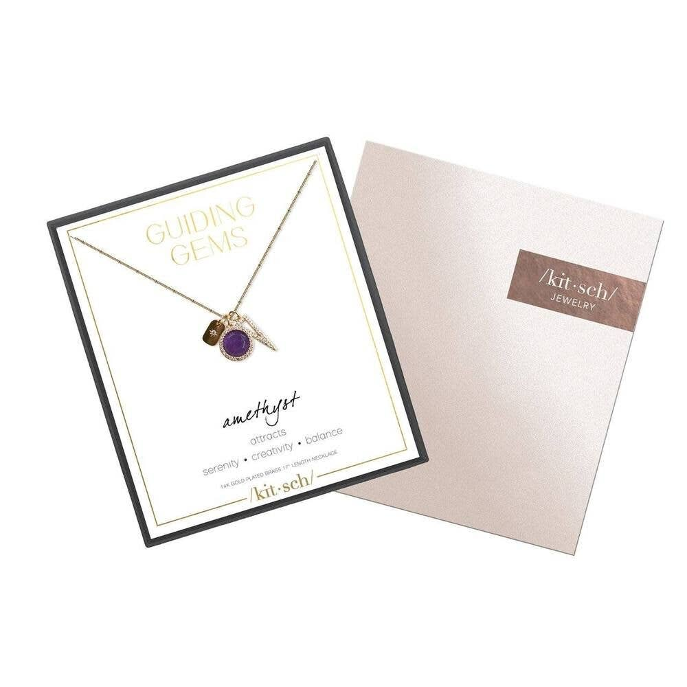 Amethyst Cluster Charm Necklace