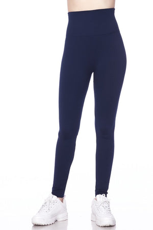 Fleece High Waisted Legging Navy