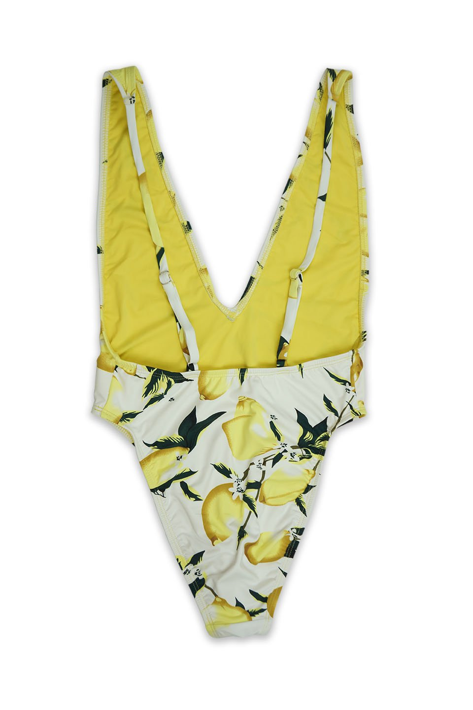 Lemon Low V-Neck Cheeky Coverage One Piece