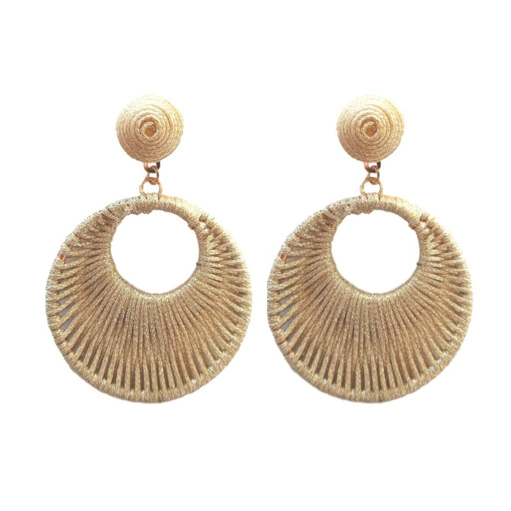 Wrapped Bali Drops - Gold Earring