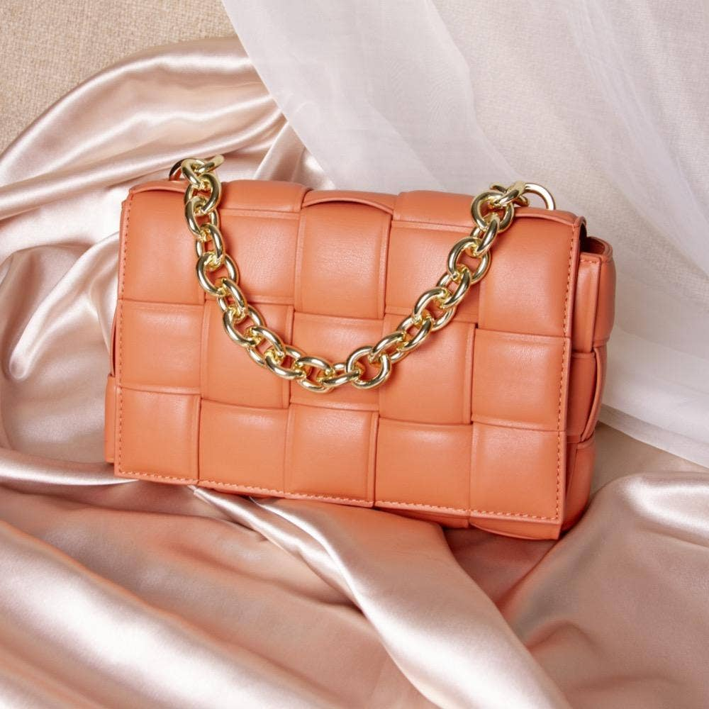 Anya Vegan Shoulder Bag in Peach