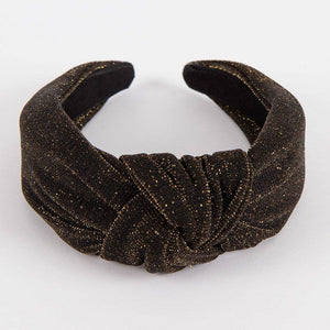Femme Faire Knotted Headband - Holiday Glow ( Gold )