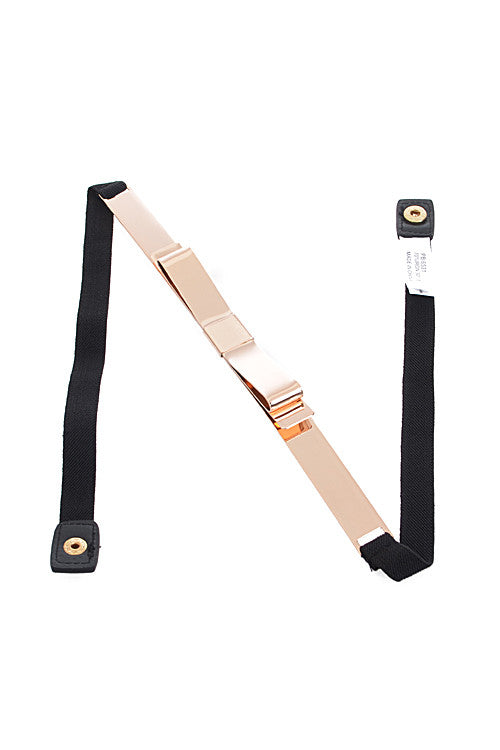 Gold Ribbon Elastic Belt